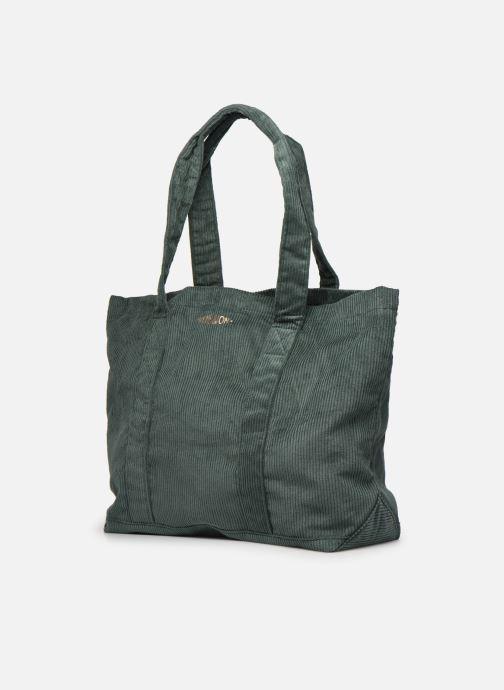 Handbags Bensimon CORDUROY TOTE Green model view