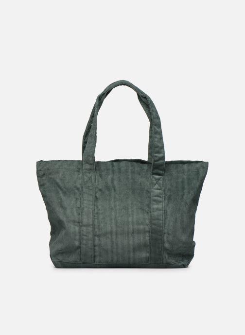 Handbags Bensimon CORDUROY TOTE Green front view