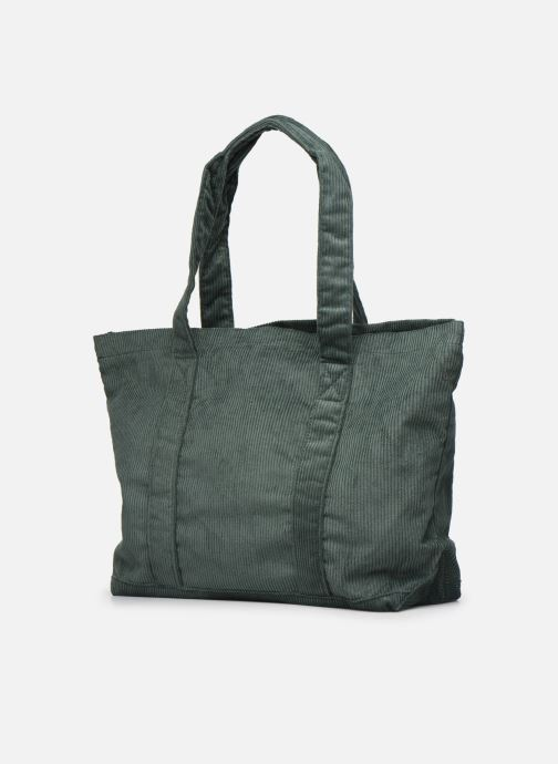 Handbags Bensimon CORDUROY TOTE Green view from the right