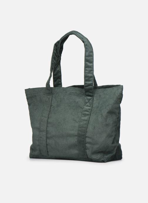 Handtaschen Bensimon CORDUROY TOTE grün ansicht von rechts