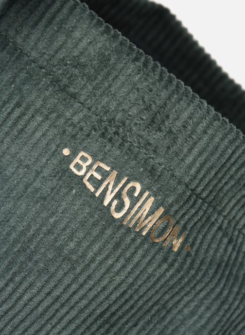 Handbags Bensimon CORDUROY TOTE Green view from the left