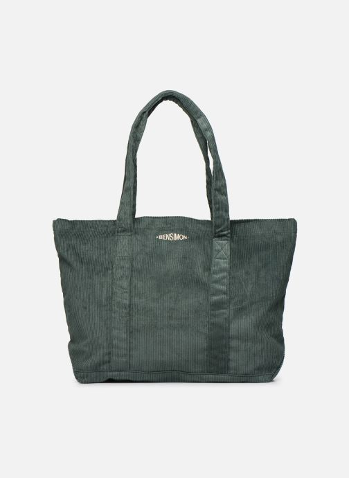 Handbags Bensimon CORDUROY TOTE Green detailed view/ Pair view