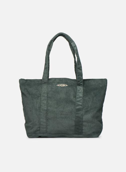 Handtaschen Bensimon CORDUROY TOTE grün detaillierte ansicht/modell