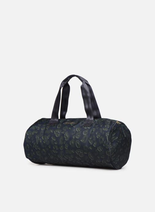 Borsa da palestra Bensimon NYLON LEOPARD COLOR BAG Azzurro modello indossato