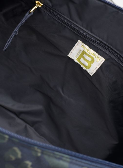 Bolsas de deporte Bensimon NYLON LEOPARD COLOR BAG Azul vistra trasera