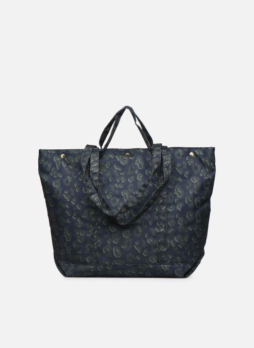 Handbags Bensimon NYLON LEOPARD TOTE Blue front view