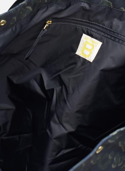 Handbags Bensimon NYLON LEOPARD TOTE Blue back view