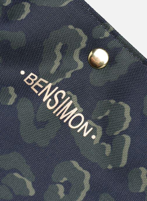 Handbags Bensimon NYLON LEOPARD TOTE Blue view from the left