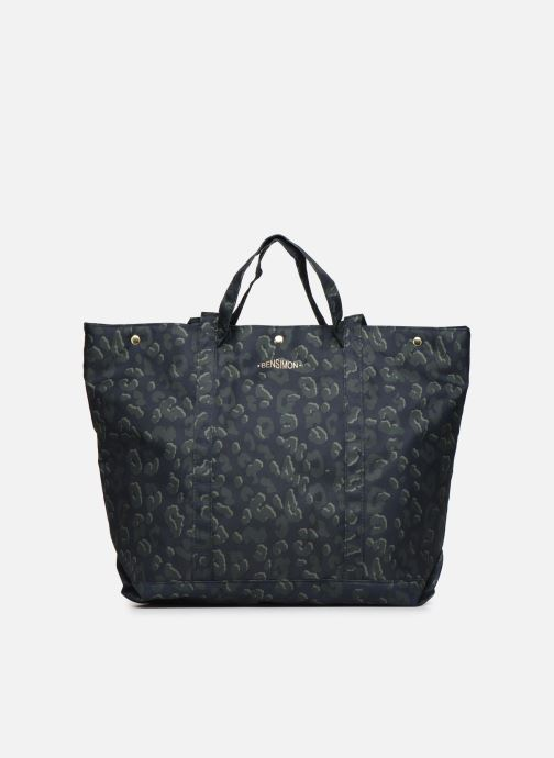 Handbags Bensimon NYLON LEOPARD TOTE Blue detailed view/ Pair view
