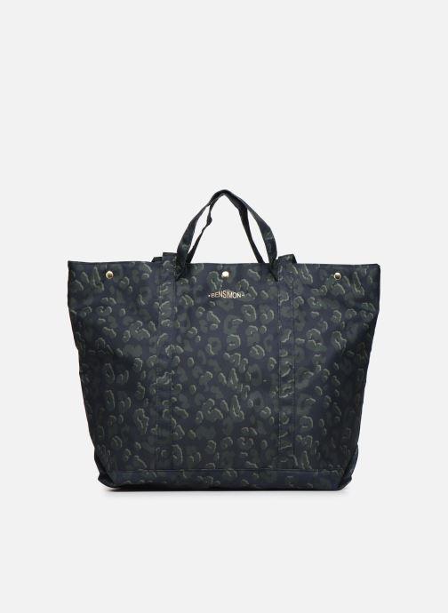 Handtaschen Bensimon NYLON LEOPARD TOTE blau detaillierte ansicht/modell