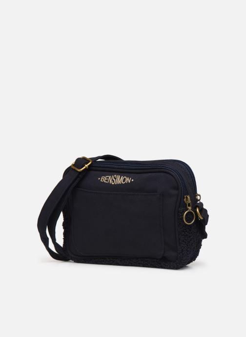 Handbags Bensimon LITTLE BESACE SHEARLING Blue model view