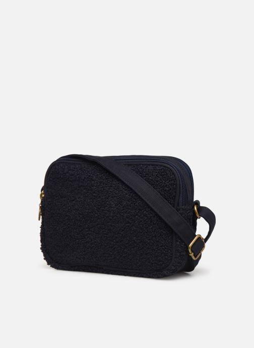 Handtaschen Bensimon LITTLE BESACE SHEARLING blau ansicht von rechts