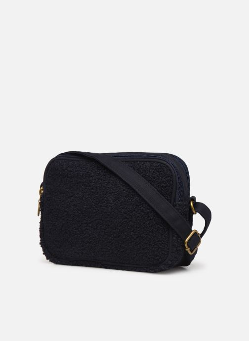 Handbags Bensimon LITTLE BESACE SHEARLING Blue view from the right