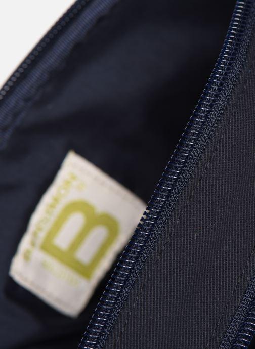 Handbags Bensimon LITTLE BESACE SHEARLING Blue back view