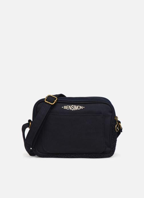 Handtaschen Bensimon LITTLE BESACE SHEARLING blau detaillierte ansicht/modell
