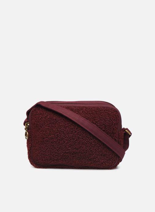 Handtaschen Bensimon LITTLE BESACE SHEARLING weinrot ansicht von vorne