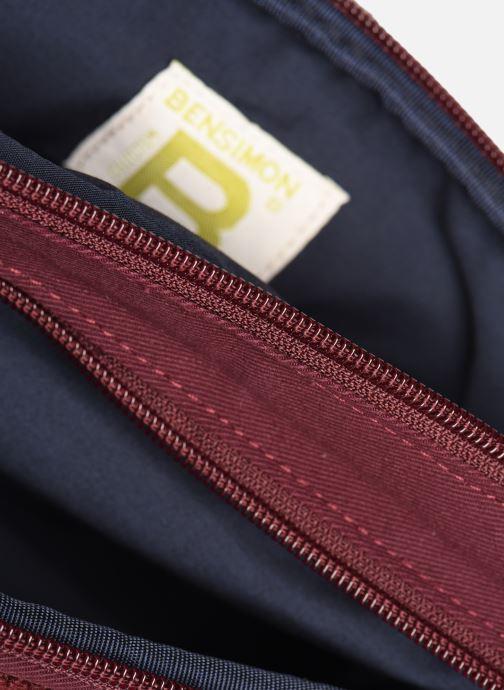 Handbags Bensimon LITTLE BESACE SHEARLING Burgundy back view