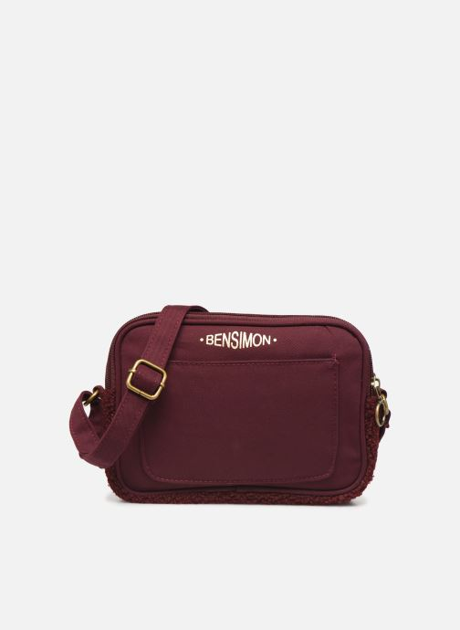 Handbags Bensimon LITTLE BESACE SHEARLING Burgundy detailed view/ Pair view