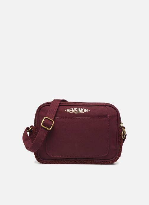 Handtaschen Bensimon LITTLE BESACE SHEARLING weinrot detaillierte ansicht/modell
