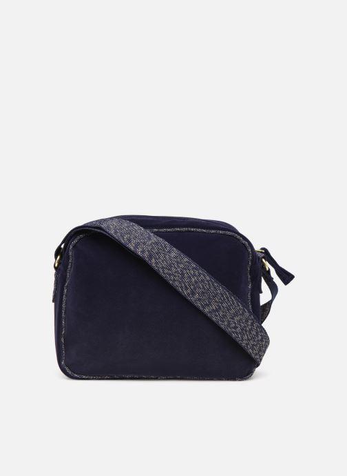 Handbags Bensimon SHINY VELVET SMALL BESACE Blue front view