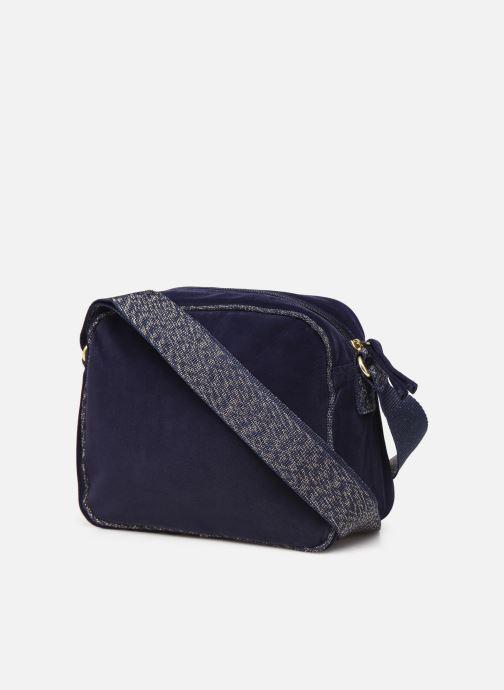 Handtaschen Bensimon SHINY VELVET SMALL BESACE blau ansicht von rechts