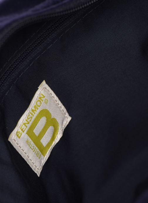Handbags Bensimon SHINY VELVET SMALL BESACE Blue back view