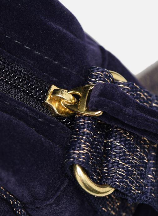 Handbags Bensimon SHINY VELVET SMALL BESACE Blue view from the left