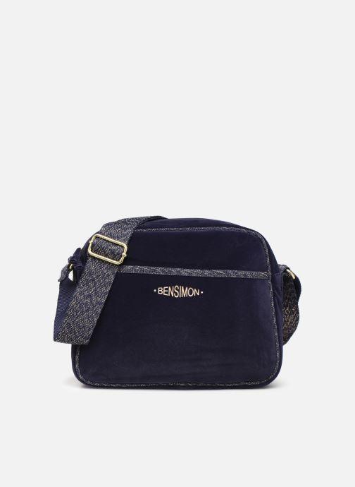 Handbags Bensimon SHINY VELVET SMALL BESACE Blue detailed view/ Pair view
