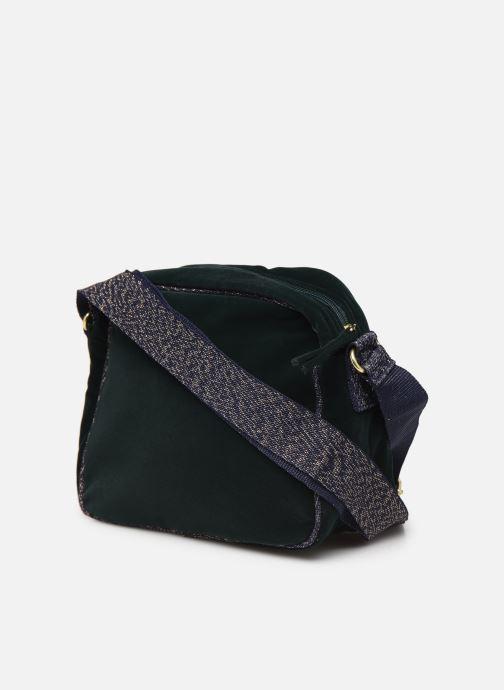 Bolsos de mano Bensimon SHINY VELVET SMALL BESACE Verde vista lateral derecha