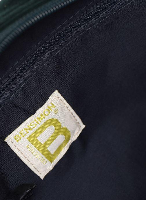 Handbags Bensimon SHINY VELVET SMALL BESACE Green back view