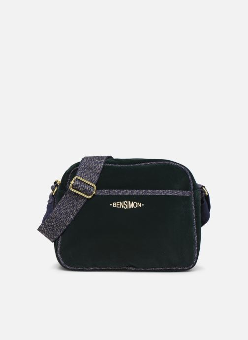 Handbags Bensimon SHINY VELVET SMALL BESACE Green detailed view/ Pair view