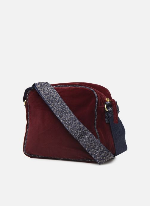 Handtaschen Bensimon SHINY VELVET SMALL BESACE weinrot ansicht von rechts