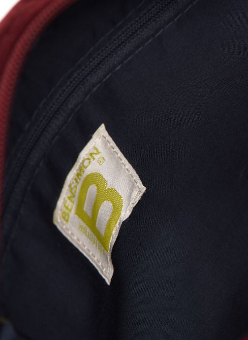 Handtaschen Bensimon SHINY VELVET SMALL BESACE weinrot ansicht von hinten