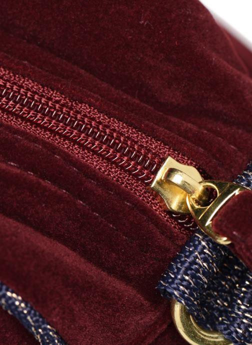 Handtaschen Bensimon SHINY VELVET SMALL BESACE weinrot ansicht von links