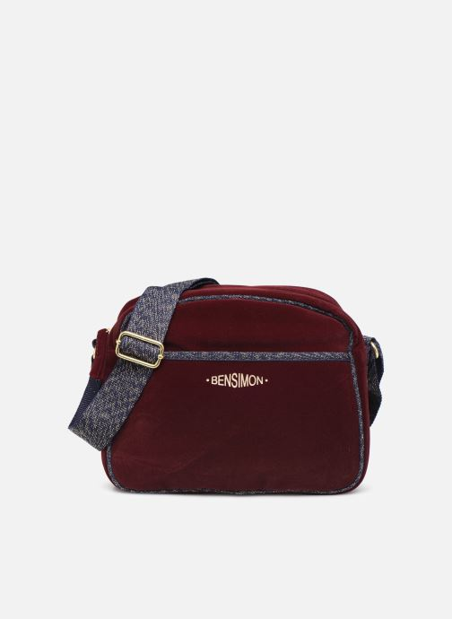 Handtassen Bensimon SHINY VELVET SMALL BESACE Bordeaux detail