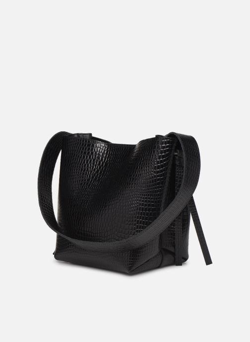 Handtaschen Craie COUTUME schwarz ansicht von rechts