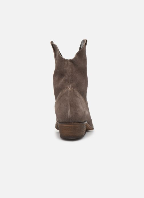 Ankle boots Georgia Rose Acheyen Beige view from the right