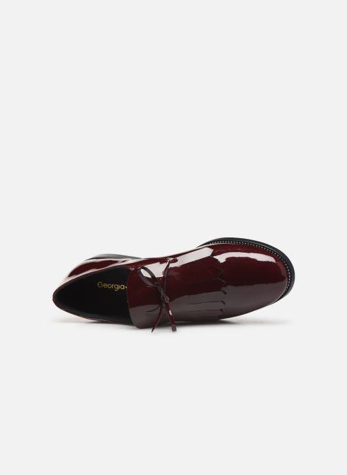 Zapatos con cordones Georgia Rose Amadia Vino vista lateral izquierda