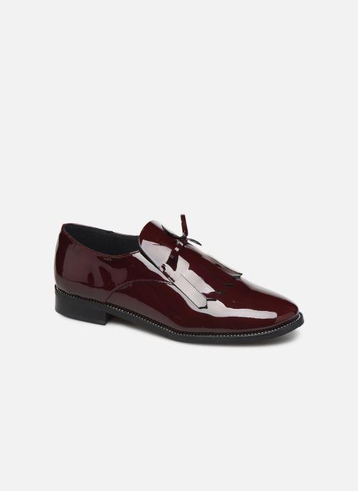 Snøresko Georgia Rose Amadia Bordeaux detaljeret billede af skoene