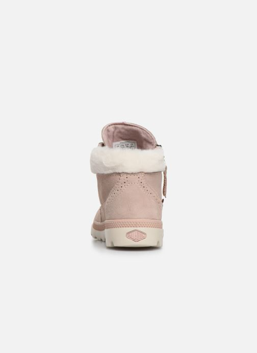 Bottines et boots Palladium Pampa Lite Moscow Rose vue droite
