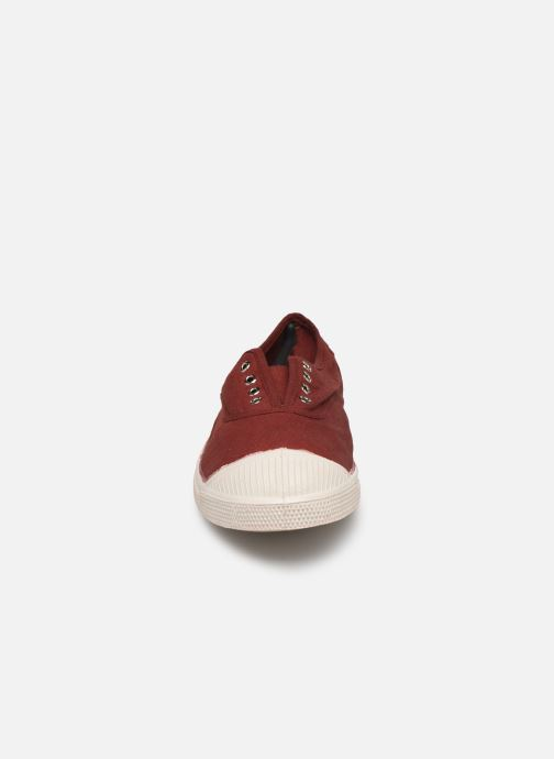 Trainers Bensimon Tennis Elly F Burgundy model view