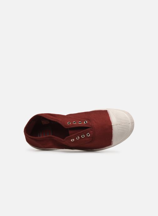Trainers Bensimon Tennis Elly F Burgundy view from the left