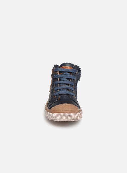 Baskets Bisgaard Holger Bleu vue portées chaussures