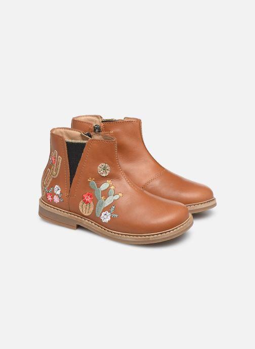 Boots en enkellaarsjes Pom d Api Retro kipik Bruin 3/4'