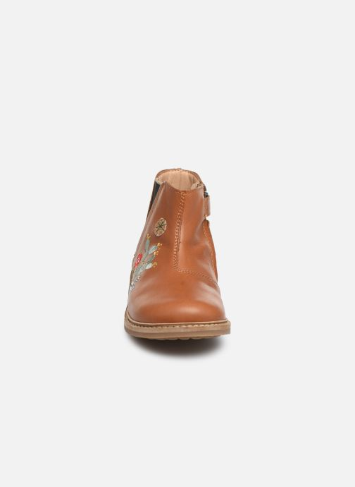 Boots en enkellaarsjes Pom d Api Retro kipik Bruin model
