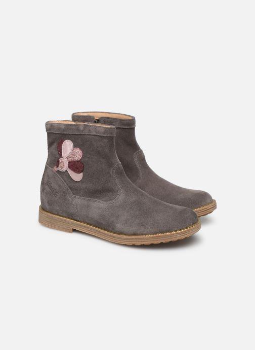 Bottines et boots Pom d Api Trip rolls cebo Gris vue 3/4