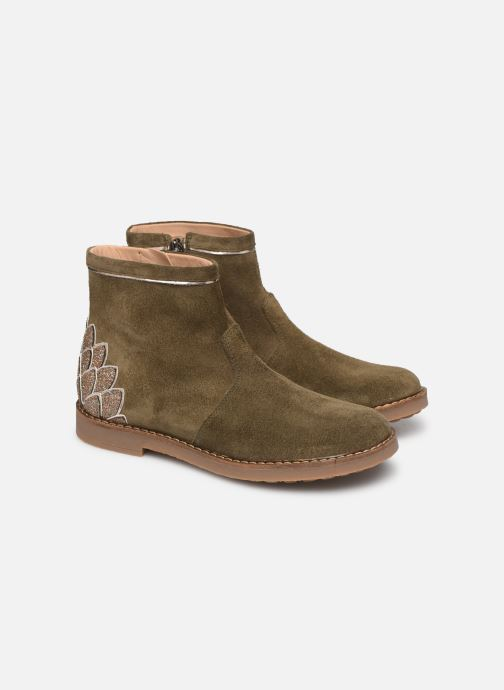 Ankle boots Pom d Api Trip scale Green 3/4 view
