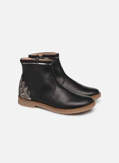 Ankle boots Pom d Api Trip scale Black 3/4 view