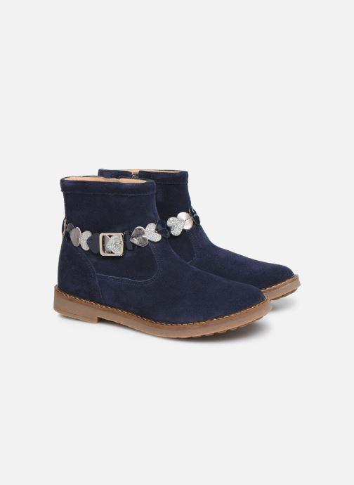 Bottines et boots Pom d Api Trip heart Bleu vue 3/4