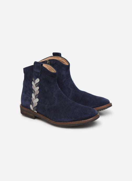 Bottines et boots Pom d Api Billy ferns Bleu vue 3/4